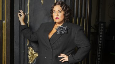 "Casey Donovan as  Matron ""Mama"" Morton in the Sydney revival of Chicago."
