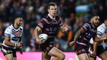 Tom Trbojevic is one of the most destructive players in the game, and feeds off service from Cherr-Evans and the Sea Eagles' dummy halves.