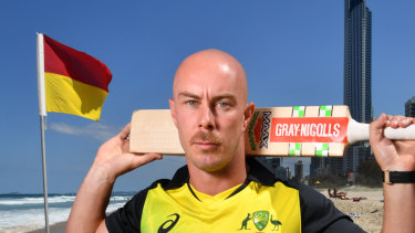 Chris Lynn found out he had not been selected for Australia's T20 clashes through social media.