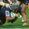 Rebels prop Tetera Faulkner recalls his rare try