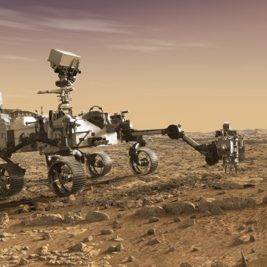 Artist's depiction of Mars 2020 Rover, which now-Brisbane-based David Flannery helped to develop.