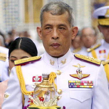 Thailand's King Maha Vajiralongkorn in 2018. He spent six years as a young crown prince in Australia, studying first at the King's School in Parramatta before four years at the Royal Military College Duntroon and time with a regiment in Perth.