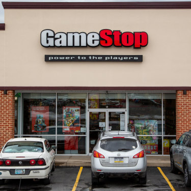 """GameStop: power to the players"": a GameStop store in Pennsylvania."