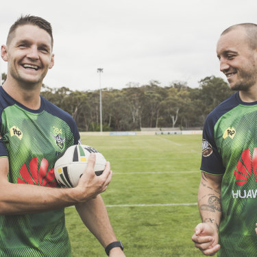 Raiders co-captains Jarrod Croker and Josh Hodgson.