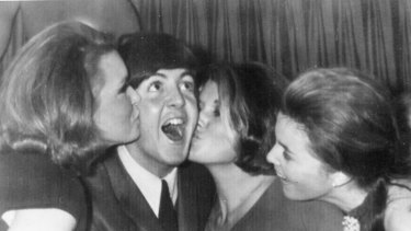 Paul McCartney celebrates his 22nd birthday in Sydney, during The Beatles tour of Australia, in 1964.