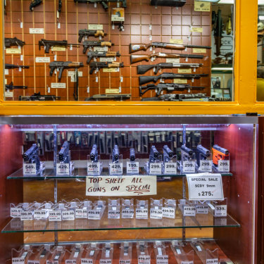 A gun shop on every corner: Miami.