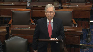 Republican Senator Mitch McConnell has recognised Joe Biden as the President-elect for the first time since the election.