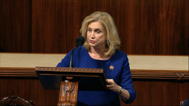 """The Government Accountability Office found that more than $US1 trillion in taxpayer funds have already been obligated - including more than $US1 billion to deceased individuals - with little transparency into how that money is being spent."": Representative Carolyn Maloney, chair of the House Oversight and Reform Committee, said in a statement."