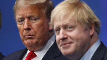 Donald Trump and Boris Johnson, pictured last year at a NATO conference.