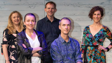 Louise Brehmer, artistic director Lee Lewis, Bryan Probetts, writer David Megarrity and Bridget Boyle of Queensland Theatre.