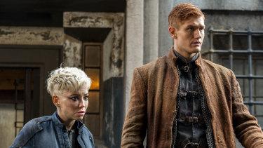 Corporal Angua (Marama Corlett) and Constable Carrot (Adam Hugill) in The Watch.