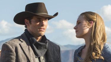 James Marsden and Evan Rachel Wood in Jonathan Nolan's Westworld.