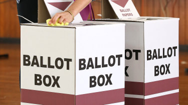 The ballot boxes remained closed (file image).