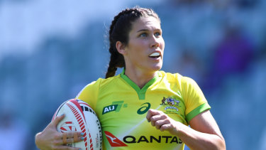 File photo of Charlotte Caslick, who made a welcome return from injury for the Australian side.