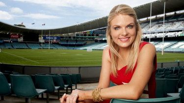 Erin Molan was the first woman to host the NRL Footy Show.