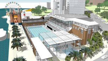 The redeveloped North Sydney Olympic Pool will keep heritage elements but include a new grandstand.