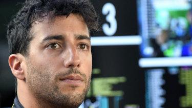 """It's obviously not ideal"": Daniel Ricciardo."