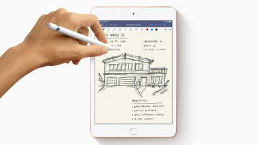 The new iPad Mini is compatible with the Apple Pencil.