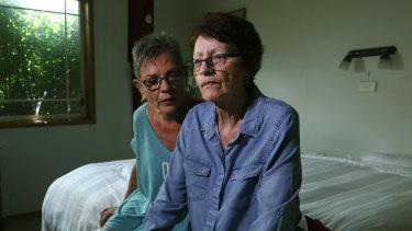 Lynda Henderson, left, with her partner, Veda Meneghetti, who has early onset dementia.