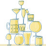 Raise a glass – to jars, lager-vases and stemware spindly and stumpy