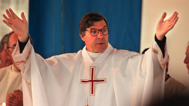 George Pell in 1996 after he was installed as Melbourne archbishop.