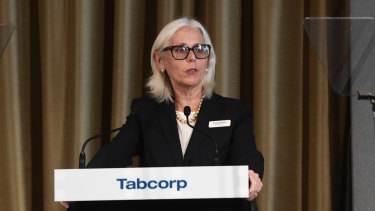 Tabcorp chair Paula Dwyer faced a large protest vote against her re-election at this year's AGM.