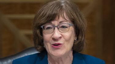 US Senator Susan Collins.