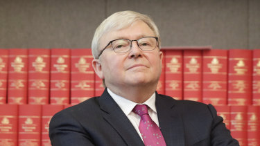 Kevin Rudd says he hasn't left Queensland since March.