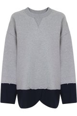 MM6 By Maison Margiela sweater with suiting hem.