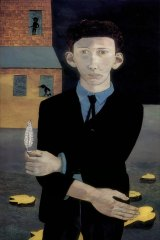 Lucian Freud's self-portrait Man with a Feather, which he painted in 1943.