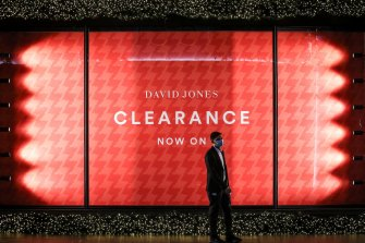 David Jones' sales has seen its profits soar across the financial year.