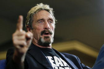 Internet security pioneer John McAfee, pictured in 2015, is accused of evading taxes and failing to file tax returns in the US.