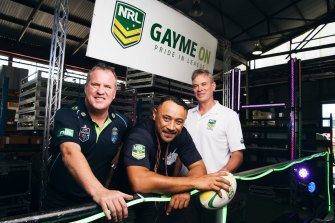 The NRL broke new ground when it took part in the Mardi Gras parade in 2016.