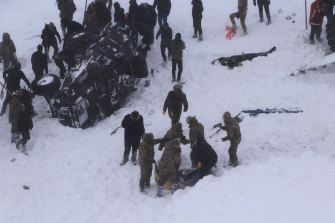 Dozens of rescue workers are missing after being hit by the second avalanche.