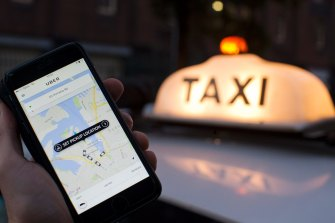Growth in ride-share services such as Uber is slowing in Sydney.