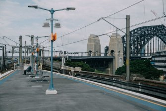 Patronage on Sydney's public transport network has dropped by about 75 per cent  amid the coronavirus pandemic.