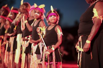 Indigenous performances celebrate the closure of the Uluru climb.