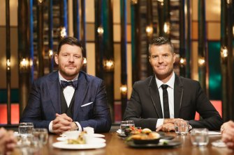 My Kitchen Rules judges Manu Fieldel and Peter Evans.