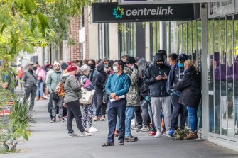 The unemployment queues grew dramatically after the coronavirus pandemic lockdown started in March.