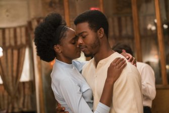 KiKi Layne and Stephan James in If Beale Street Could Talk.