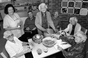 From a different era: making jam at the Brindabella nursing home in 1998.