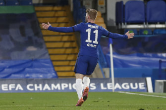 Timo Werner was on target for Chelsea's men.