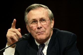 Donald Rumsfeld in 2004.