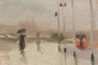 Clarice Beckett, Wet day, Brighton, c 1928