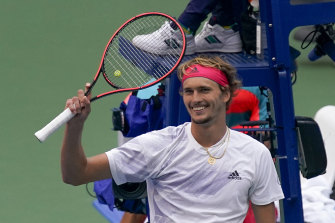 Alexander Zverev's second consecutive grand slam semi-final is also just the second of his career.