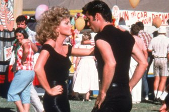 Olivia Newton-John's Grease outfit, pictured here without the jacket, sold for more than half a million Australian dollars at a US auction.