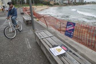 Cronulla Beach is closed due to the coronavirus lockdown.