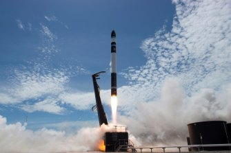 Rocket Lab, pictured hosting a successful 2018 launch from the Mahia Peninsula on New Zealand north-east coast, says it lost the rocket during its latest launch.