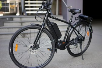 E-bikes have a battery-operated motor that adds power to a rider's efforts.