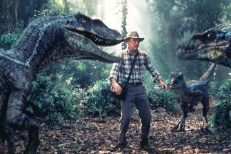 Sam Neill as Dr Alan Grant in the third <i>Jurassic Park</i> film, released in 2001.